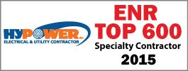 Hypower is ENR Top 600 Specialty Electrical Contractor